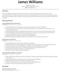 sample resume for bookkeeper accountant gallery creawizard com