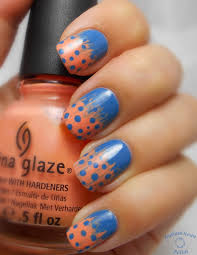 indian ocean polish spotted feather nail art with a fan brush