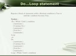 visual basic for loop control structures in visual basic
