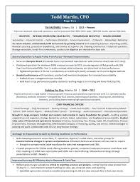 Sample Resume For Finance Executive by Executive Resume Writer Laura Smith Proulx Award Winning Cfo
