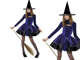 costume of witch fairy witch ladies fancy dress costume teen striped witches