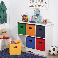 Playroom Storage Furniture by Riverridge Kids Storage Cabinet With 6 Bins White And Primary