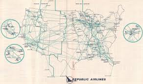 Delta Airlines Route Map by 1982 June 1 Republic Timetables Route Maps And History