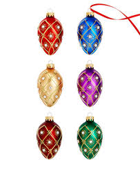 set of 6 faberge egg ornaments created for macy s