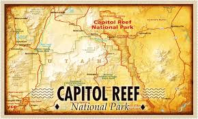 capitol reef national park map cafe archive canyoneering a breath taking
