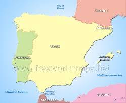 europe peninsulas map iberian peninsula map