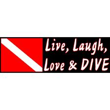 live laugh love u0026 dive bumper sticker u2013 shop709 com
