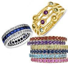 gemstone wedding rings add uniqueness and personalization to a ring by using colored stones