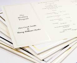 trifold wedding program paper gold foil invitation program trifold ecru cardstock cardstock