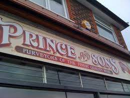 painted traditional style signwritten butchers shop sign