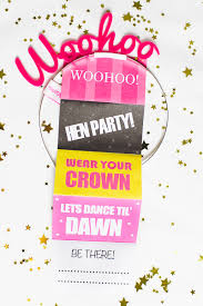 beautiful free printable hens party invitations 2 in efficient