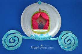 Cinderella S Coach Paper Plate Craft Make Cinderella U0027s Carriage Artsy Momma