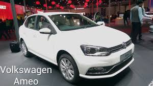 volkswagen sedan white volkswagen ameo compact sedan first look at auto expo 2016 youtube