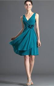 a linie u ausschnitt knielang chiffon brautjungfernkleid mit applikationen spitze p598 abendkleider shop attraktive blau a linie knielang v ausschnitt
