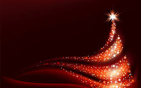 red christmas background with red christmas tree gallery