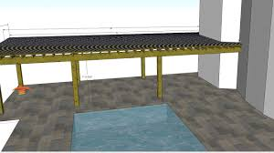 patio heating for poolside pergola using infratech slimline 4000