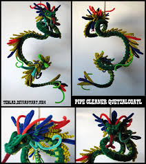 pipecleaner quetzalcoatl by teblad deviantart com crafts to