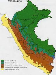 Lima Map National Parks Of Peru