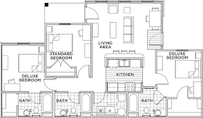 bedroom plan floor plans the province tampa student housing tampa fl