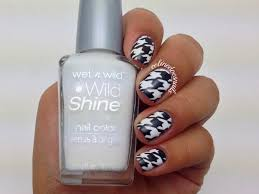 nails by celine houndstooth nail art u0026 tutorial