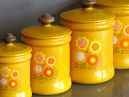 Orange Kitchen Canisters Yellow Kitchen Canisters Rigoro Us
