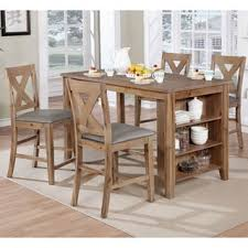 table as kitchen island furniture of america delrio rustic 5 counter height table