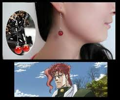 jojo s earrings anime 925 silver agate earring jojo s adventure kakyoin