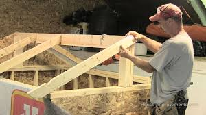 How To Make A Small Outdoor Shed by How To Build A Shed Part 3 Building U0026 Installing Rafters Youtube