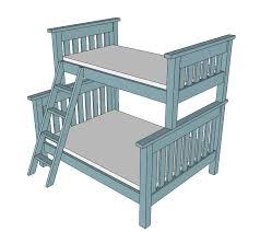Bunk Bed Drawing White Build A Simple Bunk Bed Plans Free