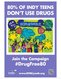indianapolis teens participate in drugfree80 poster contest