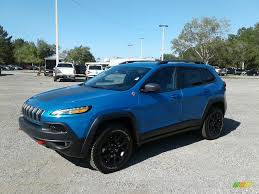 hydro blue jeep 2018 jeep cherokee trailhawk 4x4 in hydro blue pearl for sale