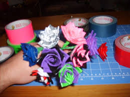Duct Tape Flowers Vases And Pens Duct Tape Rose 8 Steps With Pictures