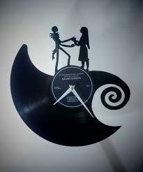 nightmare before christmas vinyl wall clock zoom