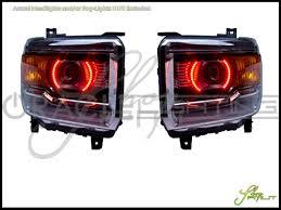 Automotive Led Lights Bulbs by 14 17 Gmc Sierra Rd W Pro Led Halo Rings Head Fog Lights Bulbs