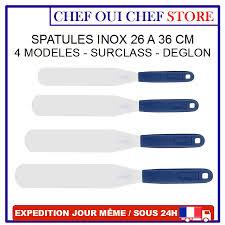 spatule inox cuisine spatule inox cuisine pâtisserie sur class 26 à 36cm déglon