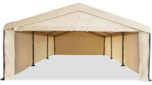 caravan canopy 10 x 20 domain carport garage with sidewall
