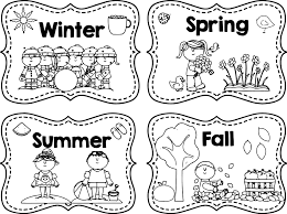 winter spring summer fall coloring page wecoloringpage