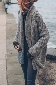 how does it take to knit a sweater jessannkirby s cozy take on our mixed stitch open cardigan
