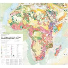 Map If Africa by International Geological Map Of Africa Digital Ccgm Cgmw