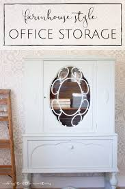 victorian farmhouse style farmhouse style office storage a vintage china cabinet makeover