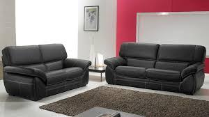 ensemble canapé 3 2 salon cuir 5 places noir pas cher canapé 3 2