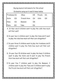 6x tables homework