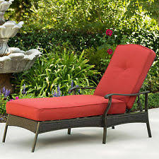 Outdoor Chaise Lounge Cushions Patio Chaise Lounge Cushion Replacement Pad Blue For Outdoor