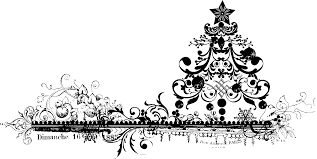 black and white christmas clipart borders collection