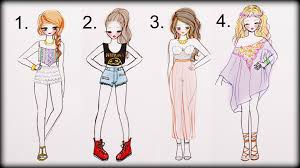 drawn people dress pencil and in color drawn people dress