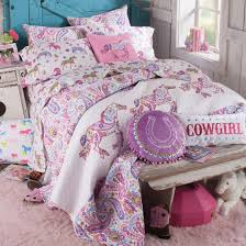 Bed Linen For Girls - pony paisley quilt bedding collections pony and room