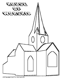 church coloring pages for kids and for adults coloring home
