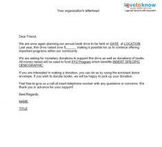 donation letter templates lovetoknow