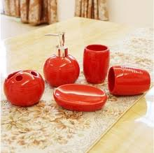 Red And Black Bathroom Accessories by Popular Bathroom Accessories Red Set Buy Cheap Bathroom