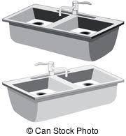 dessin evier cuisine sombrer cuisine blanc sombrer fond cuisine clipart vectoriel